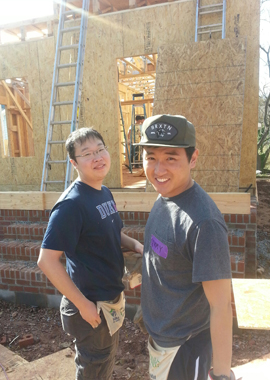 MMS students at Habitat for Humanity construction site