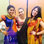 Students dressed up for Navaratri, a Hindu festival