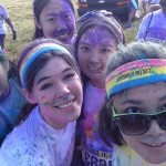 A color run - students painted their faces