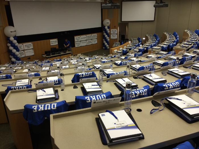 Class orientation in HCA Auditorium