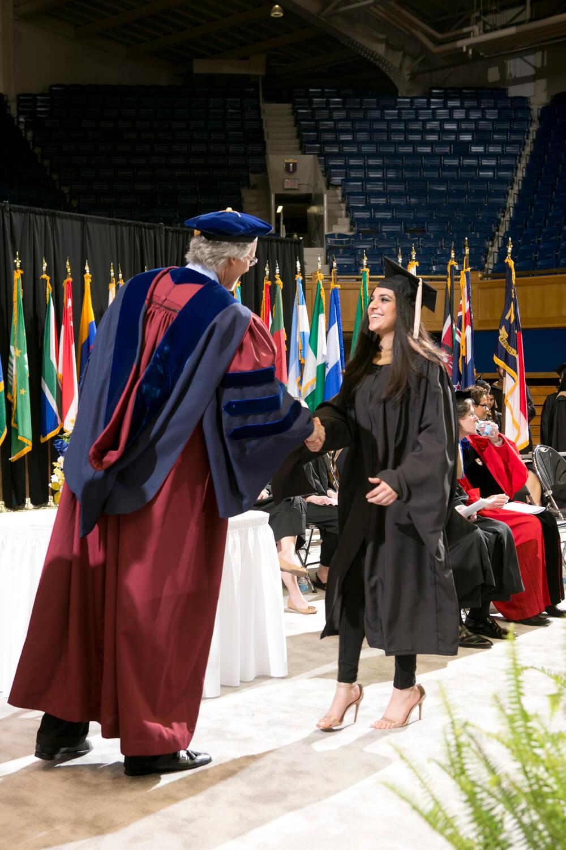 Dean Bill Boulding at graduation ceremony