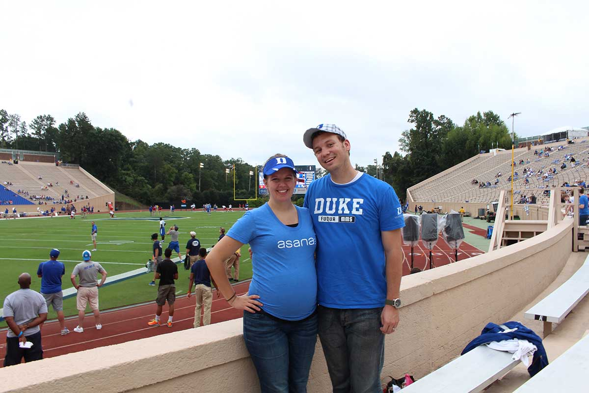 MMS students at a Duke football game