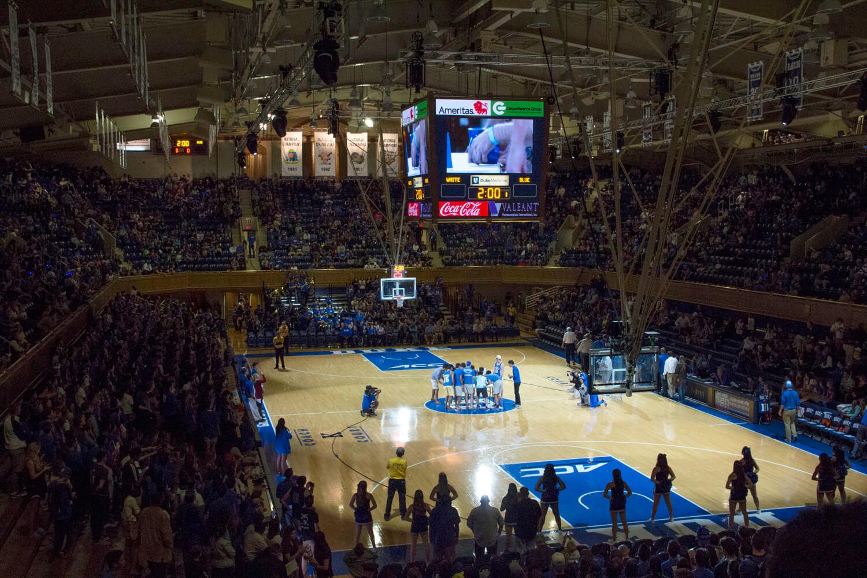 Duke basketball game at Cameron