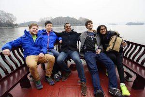 MMS: DKU students take a boat ride on West Lake