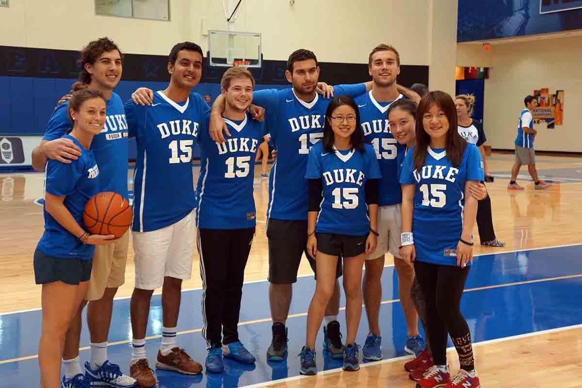 Duke MMS students get the Duke Basketball Experience