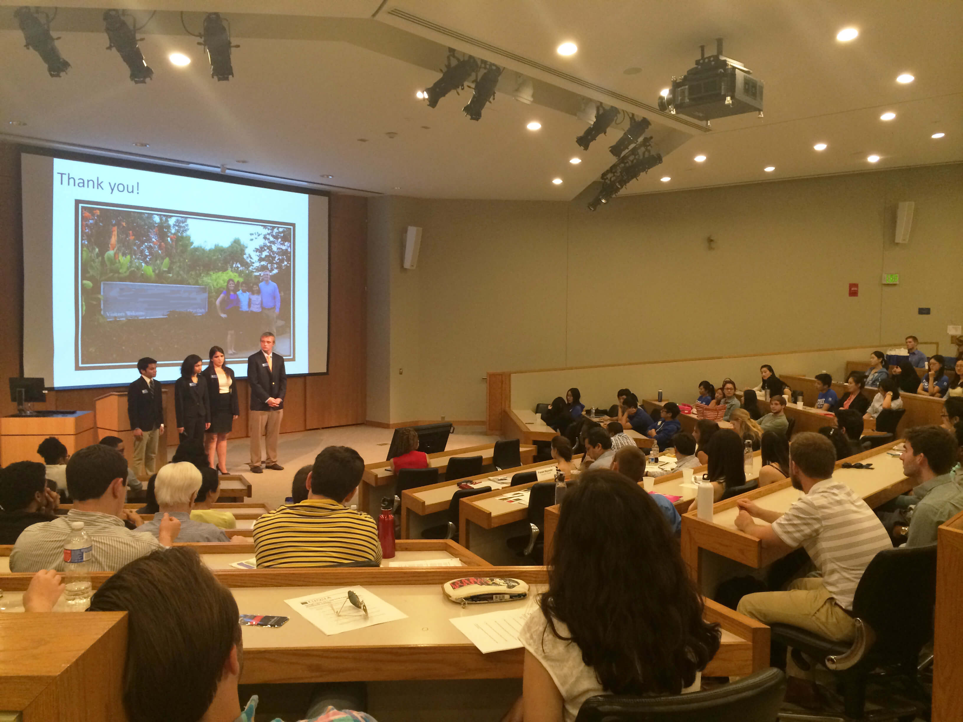 Duke MMS Students presenting in the Accenture Case Competition