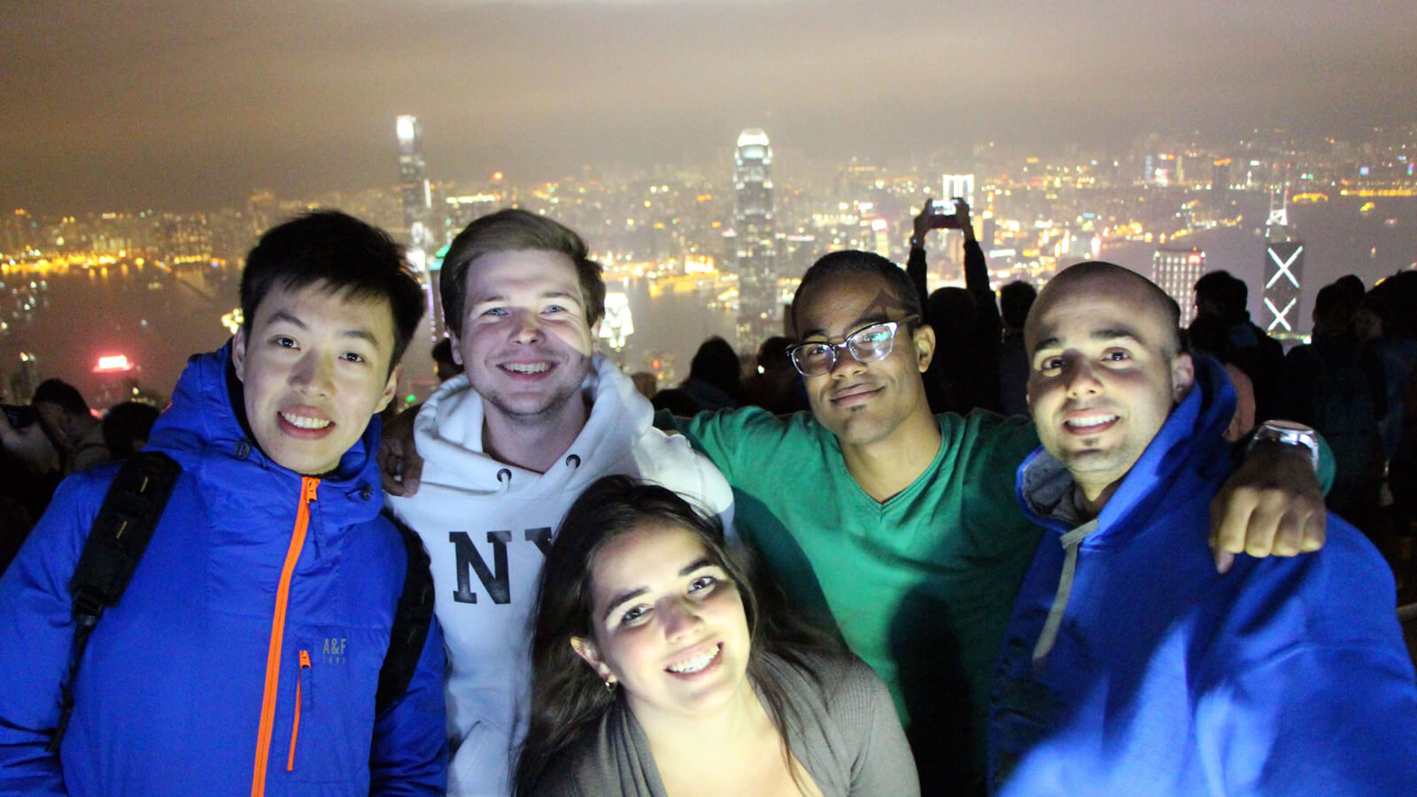 Duke Fuqua MMS: DKU students travel in China and see the view from Victoria Peak in Hong Kong