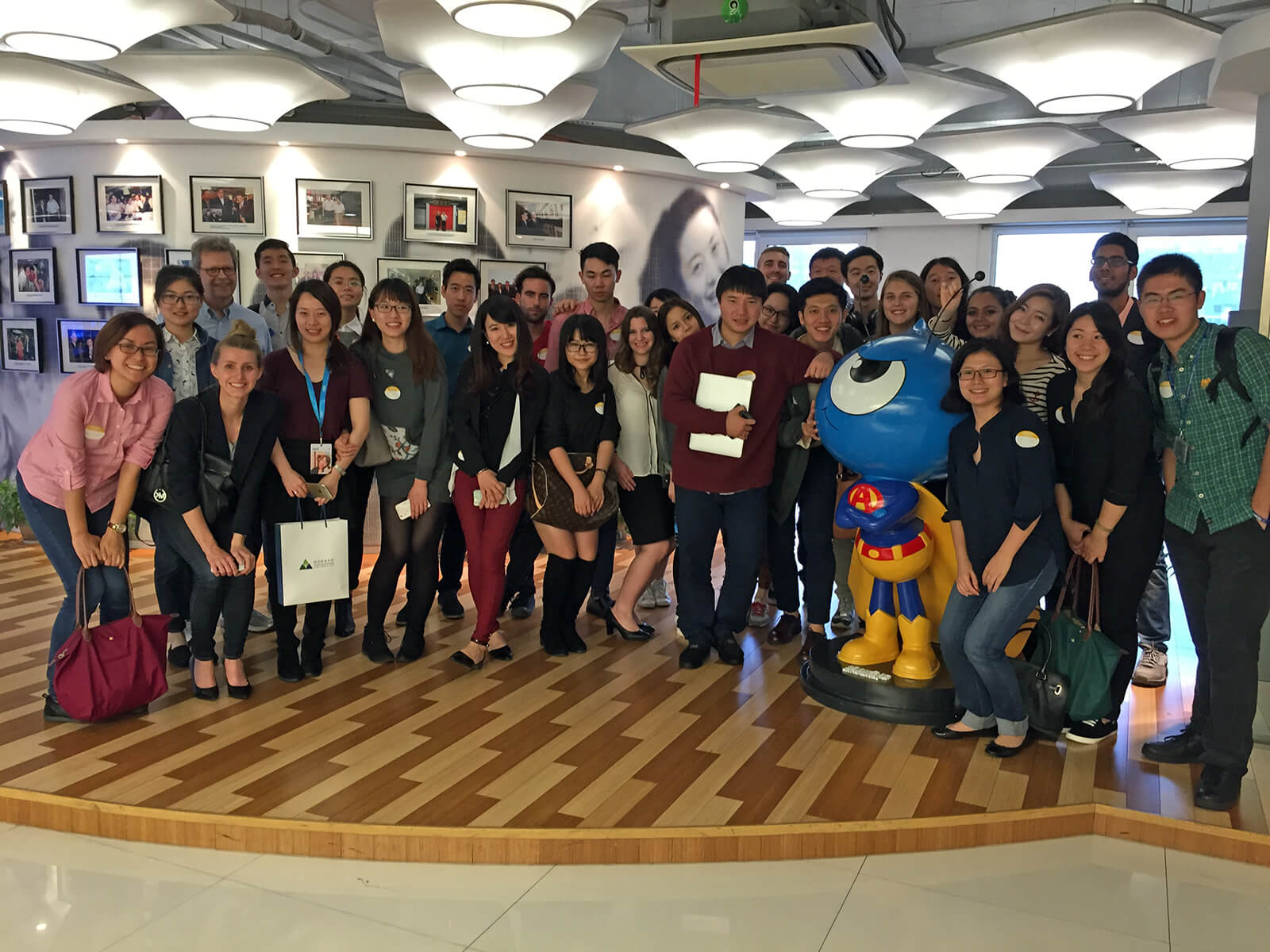 Our class at the corporate visit to Ant Financial - consulting projects