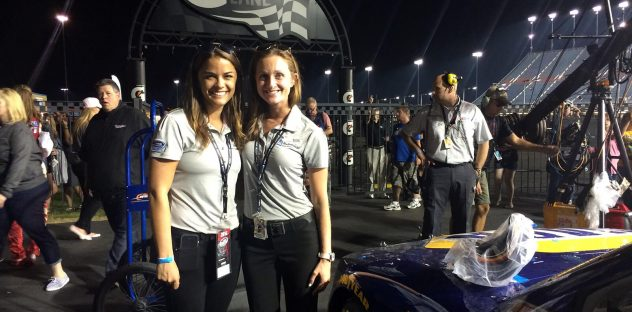 on pit road during a NASCAR race, working in my dream job