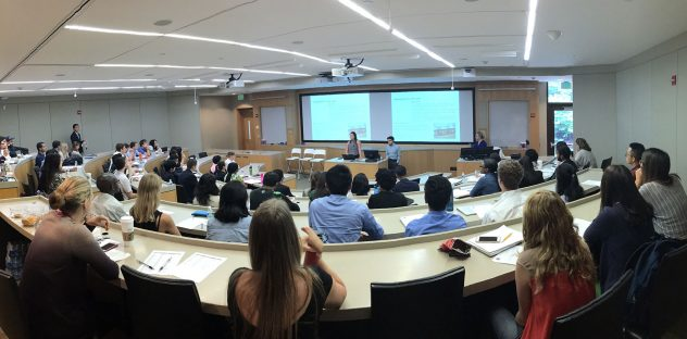students in a classroom during the Accenture Case Competition kickoff, a great opportunity to prepare for consulting careers