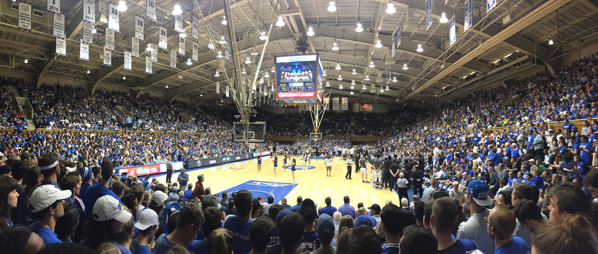 Duke basketball game at Cameron