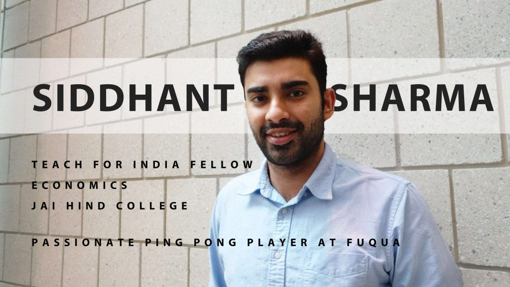 Siddhant in the halls of Fuqua, Why MMS among other graduate school options