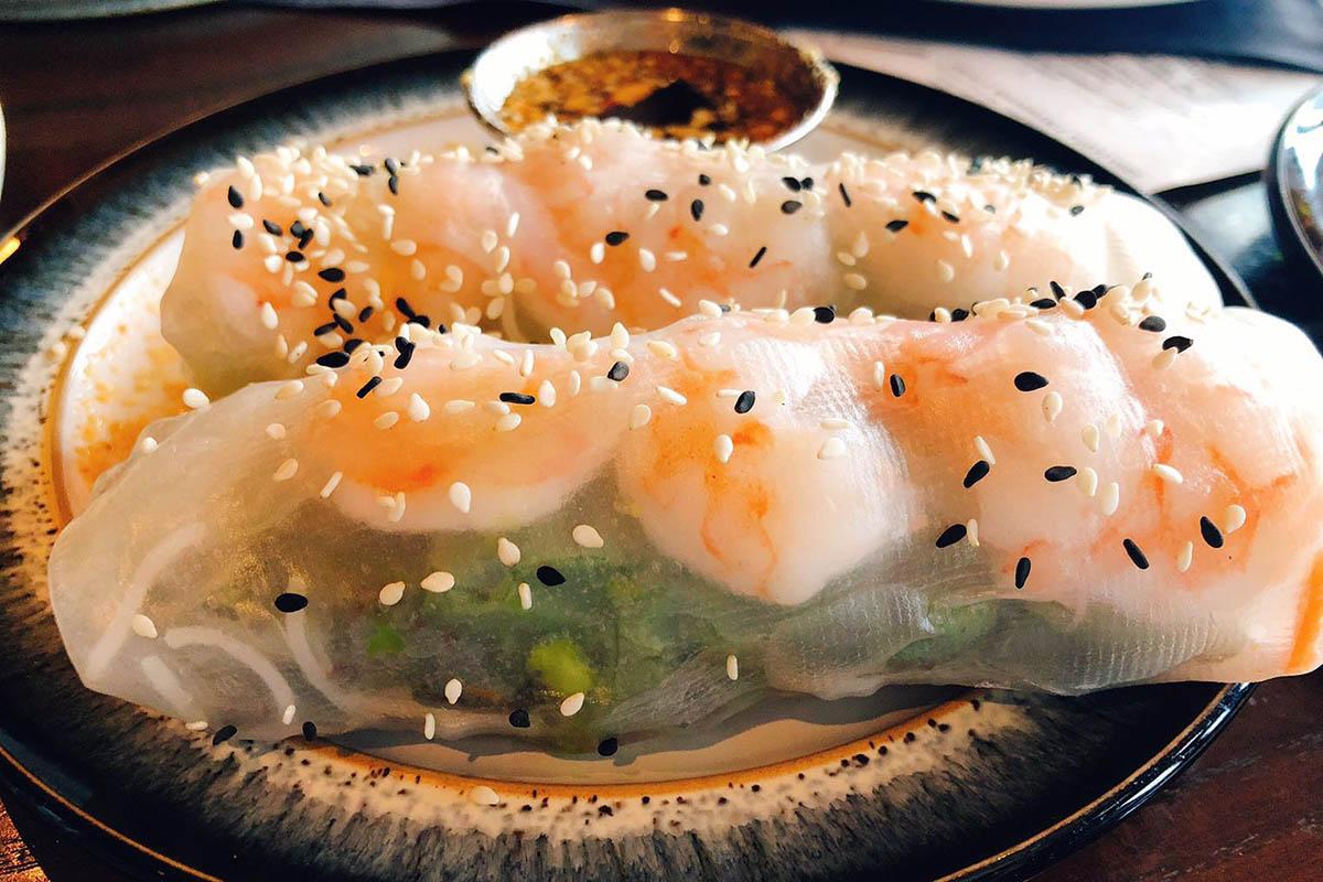 shrimp spring rolls, explore Durham