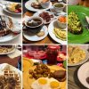 a collage of six plated food photos, one from each of Lily's brunch recommendations
