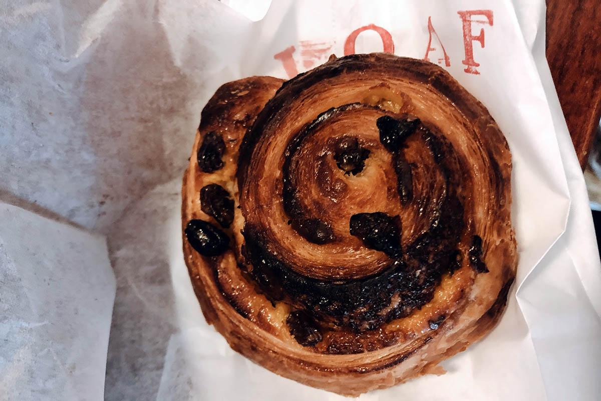 raisin cream pastry; dessert in Durham