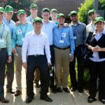 Corporate visit to John Deere during the first Durham residency