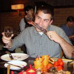 GEMBA student dining at a Shanghai restaurant