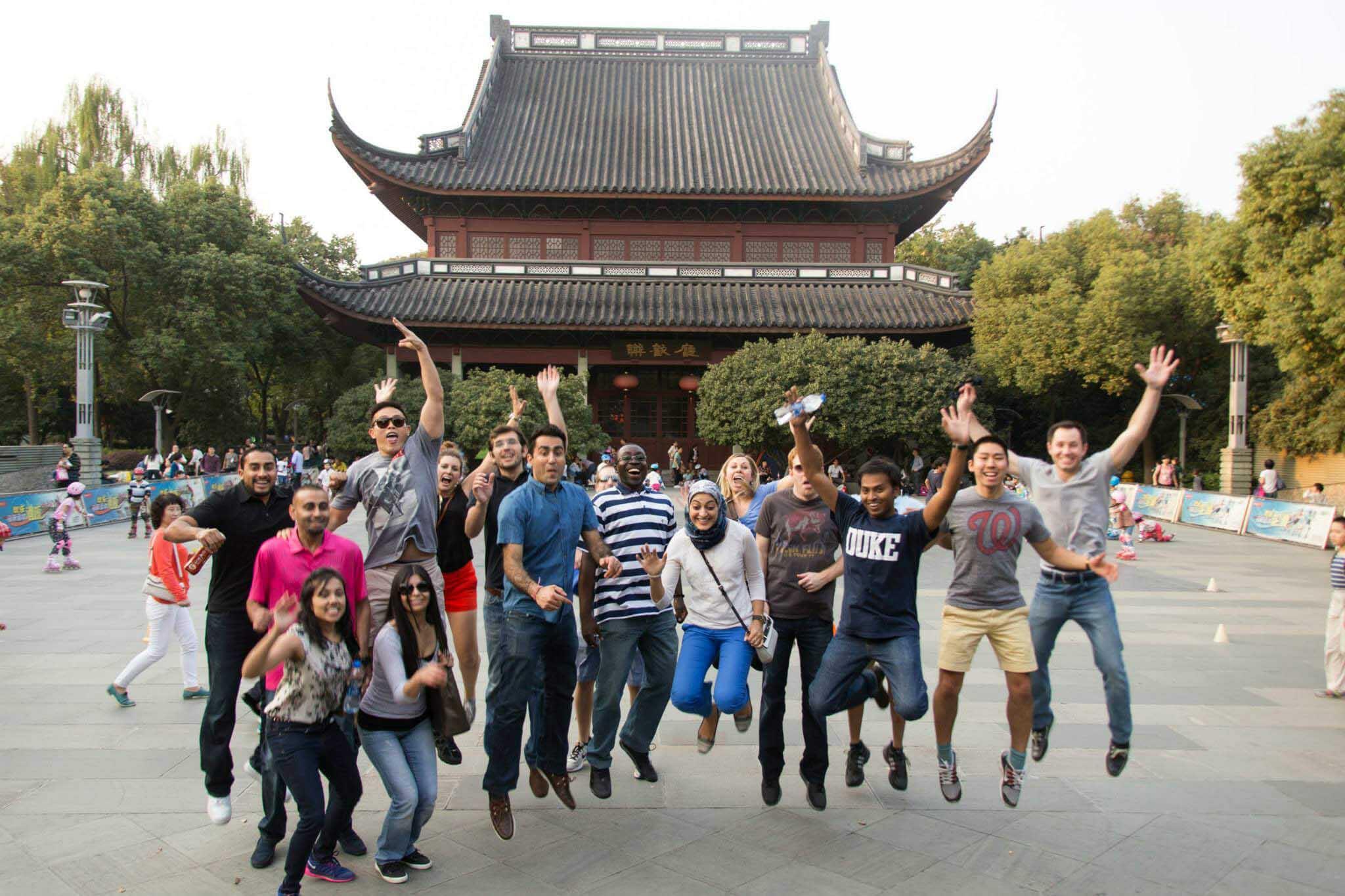 Students in Beijing during GEMBA program