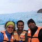 Students at Glacier Grey in Patagonia