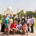 Cross Continent Students at the Taj Mahal