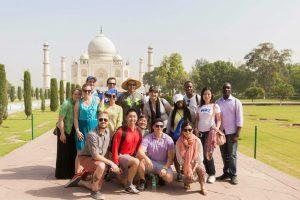 Cross Continent Students at the Taj Mahal