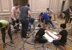 Building bicycles for charity as part of a team building experience, maximize the MBA experience