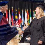 Dean Boulding at gradulation ceremony
