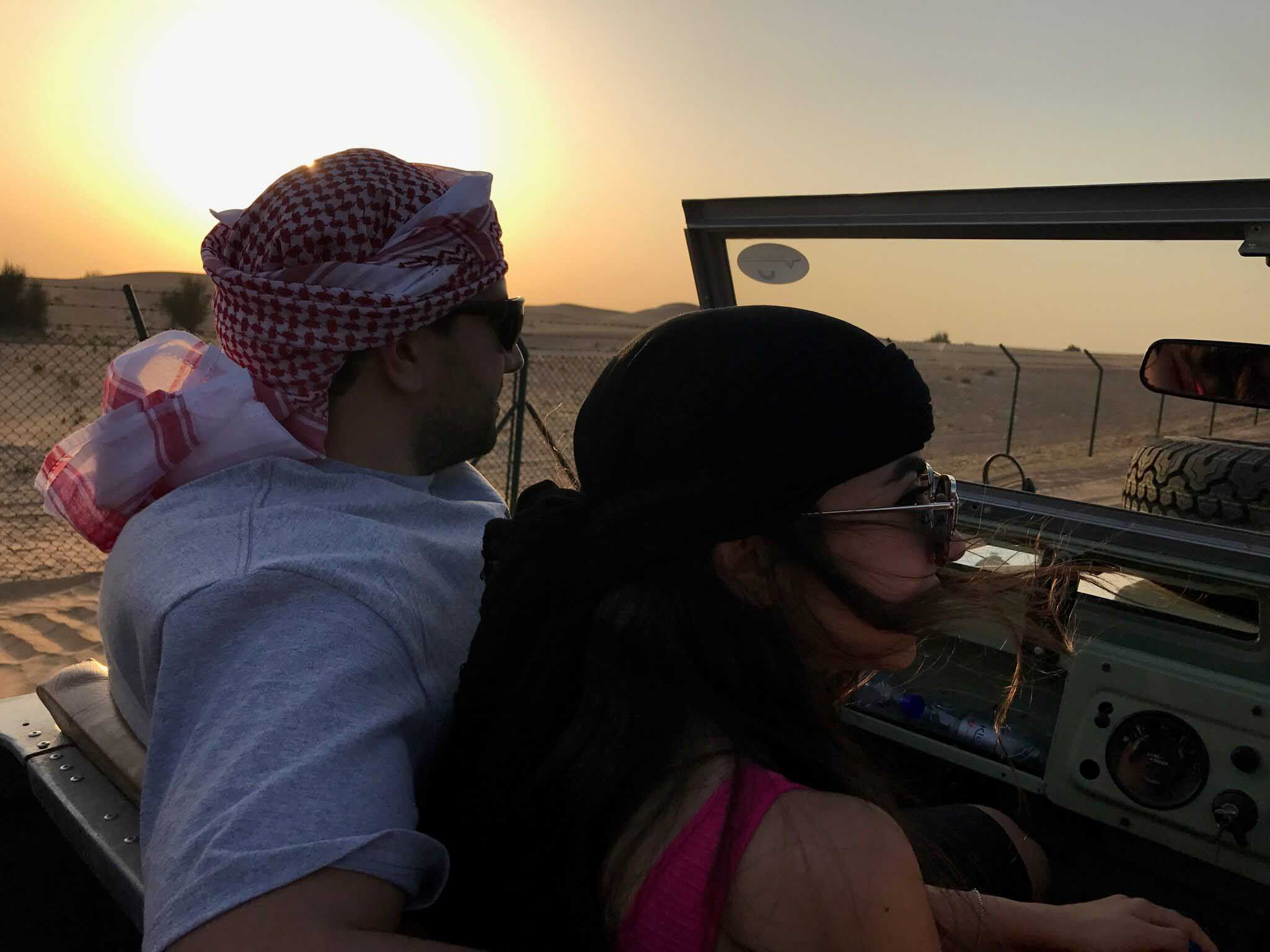 A jeep tour of Dubai desert