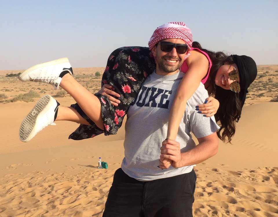 Students visit Dubai desert
