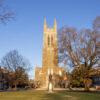 Duke chapel in the winter; why Duke