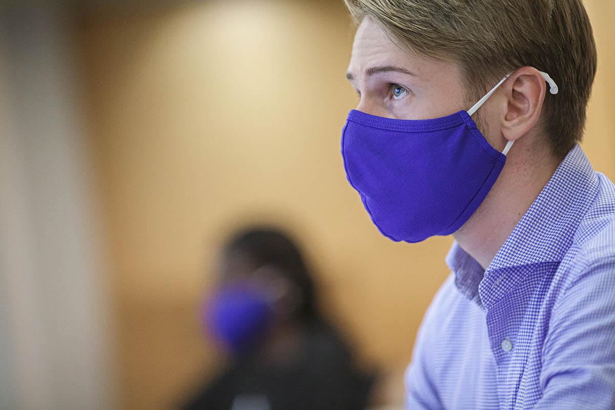 Fuqua MQM Student Wearing a Mask; MQM Career Data