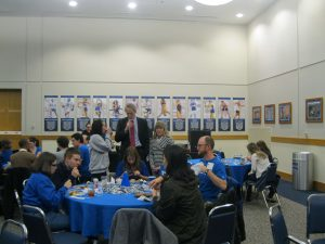 Duke Fuqua Dean Bill Boulding tailgating with students