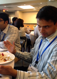 MBA students at lunch