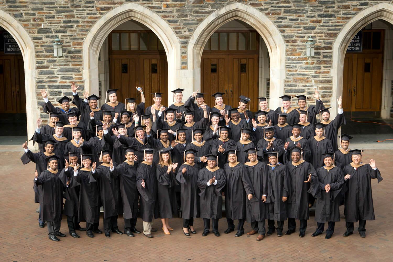 Group photo of WEMBA graduates