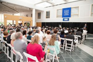 Duke Health Sector Management (HSM) Certificate Ceremony at Fuqua School of Business.